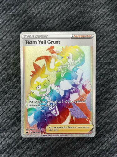 Pokemon Full Art Rainbow Secret Rare Team Yell Grunt 210//202 GMA 10 Gem Mint