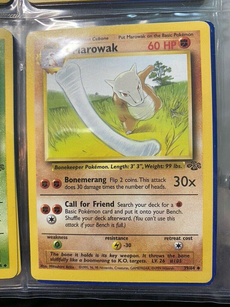 Pokemon Single Card Jungle Set Marowak 39//64 NM//M Condition