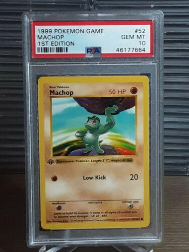 Machop 52//102 Base Set 1 Unlimited Common MINT Pokemon