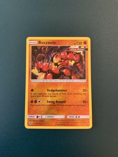Pokemon Buzzwole 77/131 Reverse Holo Rare Forbidden Light Near Mint - Image 1