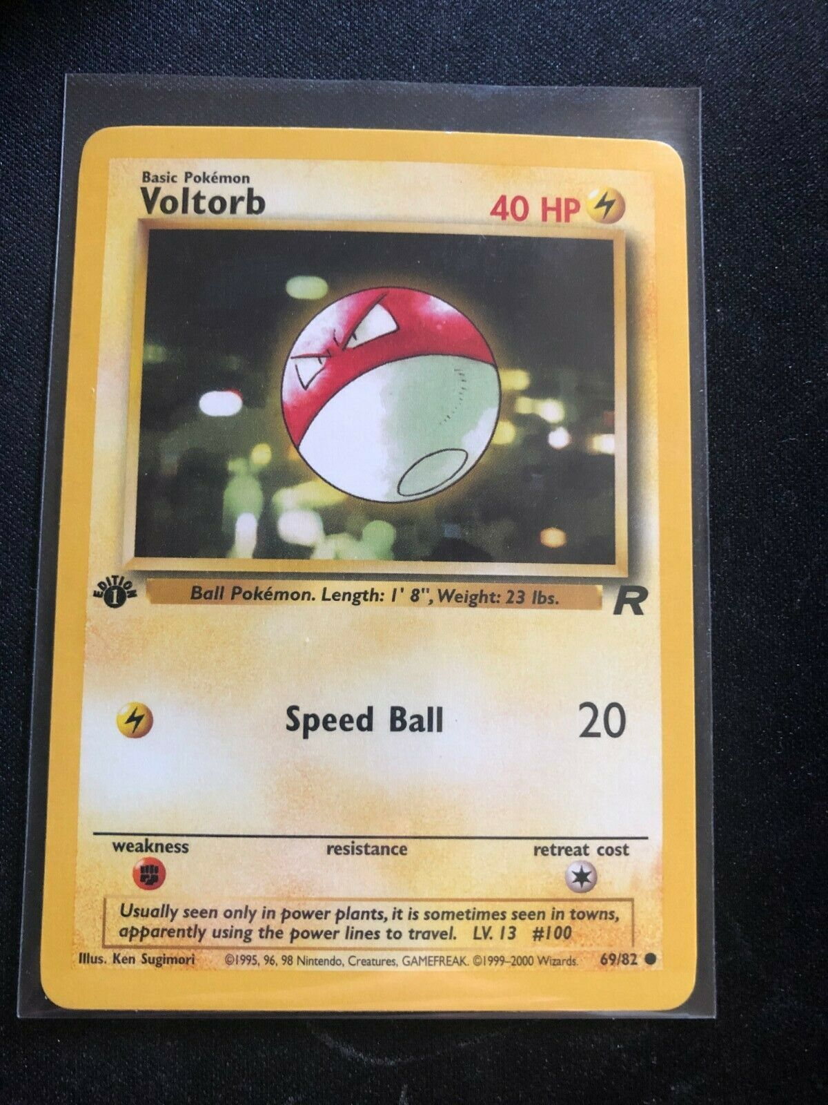 1st Edition Team Rocket Voltorb 69//82  Unplayed Near Mint To Mint