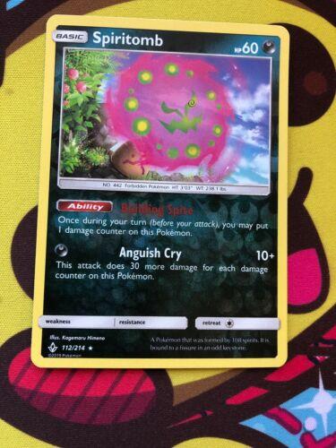 Pokemon Card  SPIRITOMB  REVERSE HOLO RARE 112//214  UNBROKEN BONDS  **MINT**