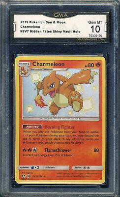 Pokemon Hidden Fates #SV7 Charmeleon Holo GMA 10 *0902