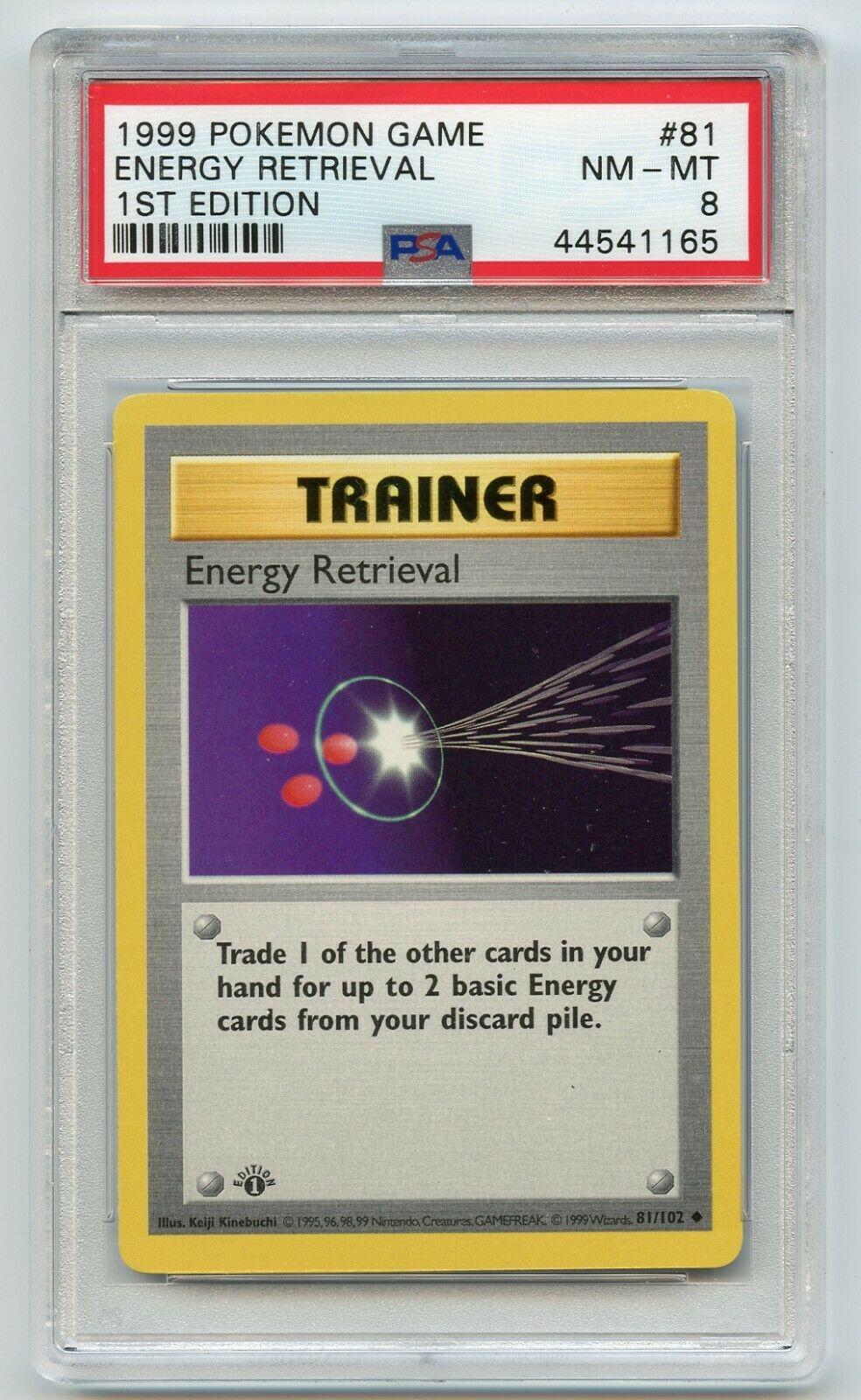 ENERGY RETRIEVAL #81 **MINT** POKEMON BASE SET UNCOMMON TRAINER