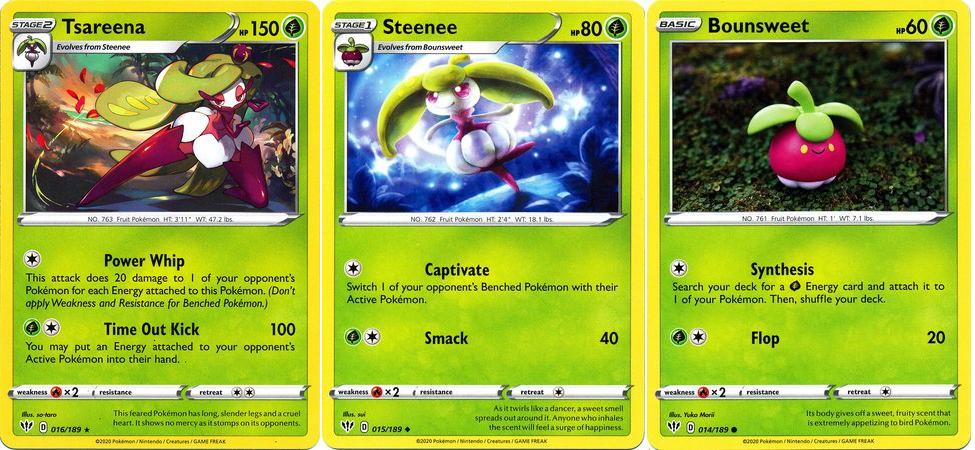 Pokemon Sun And Moon Bounsweet Single Card Common