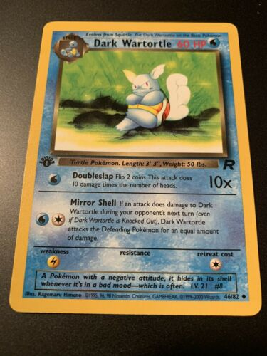 1st Edition Dark Wartortle Pack Fresh 46//82 Team Rocket Pokemon Card