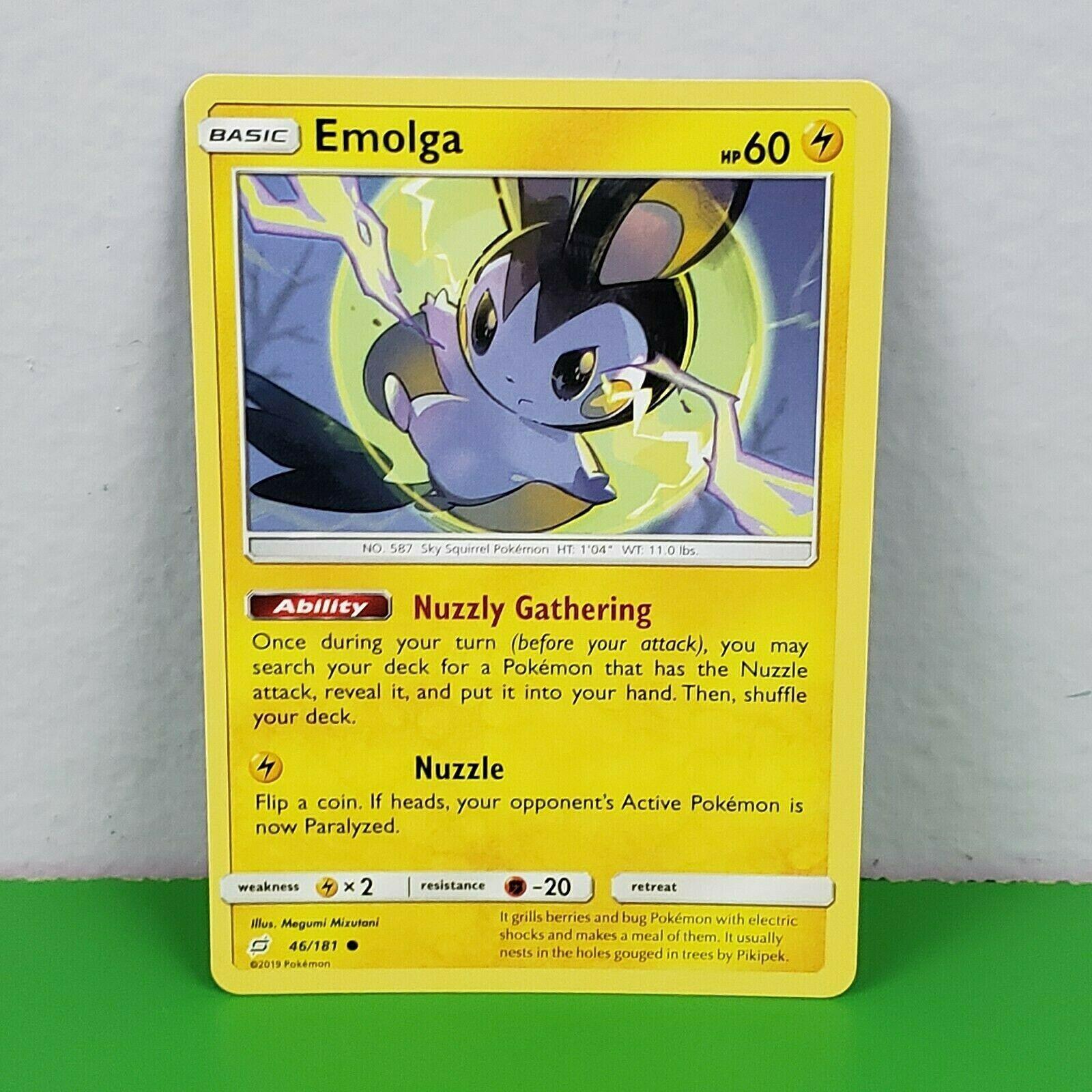 French designer card pokemon Emolga-sl09:duo shock 46//181