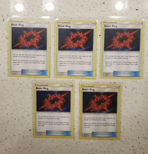 4x Pokemon Forbidden Light Beast Ring 102//131 ABC