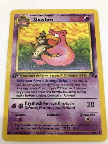 Pokemon Fossil Set UN-COMMON Slowbro 43//62 EX//NM Condition