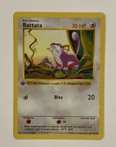 Base Set Unlimited Rattata 61//102