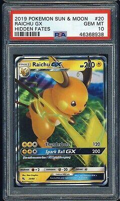 Raichu GX 20//68 sm11.5 nascosto destino-GX de NM POKEMON