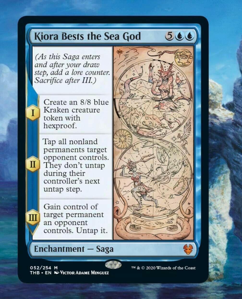 NearMint Kiora Bests the Sea God ~ Theros Beyond Death Magic MTG