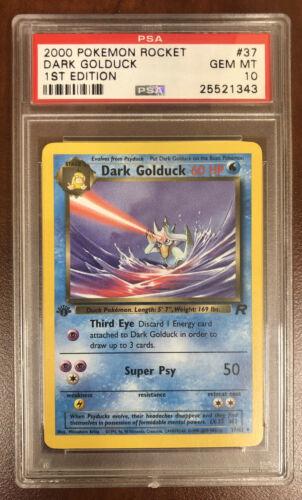 T Pokemon Dark Golduck 1st Edition Team Rocket Eng #37//82 M