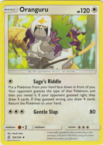 Pokemon 4X ORANGURU 182/236 UNCOMMON NM CARD UNIFIED MINDS - Image 1