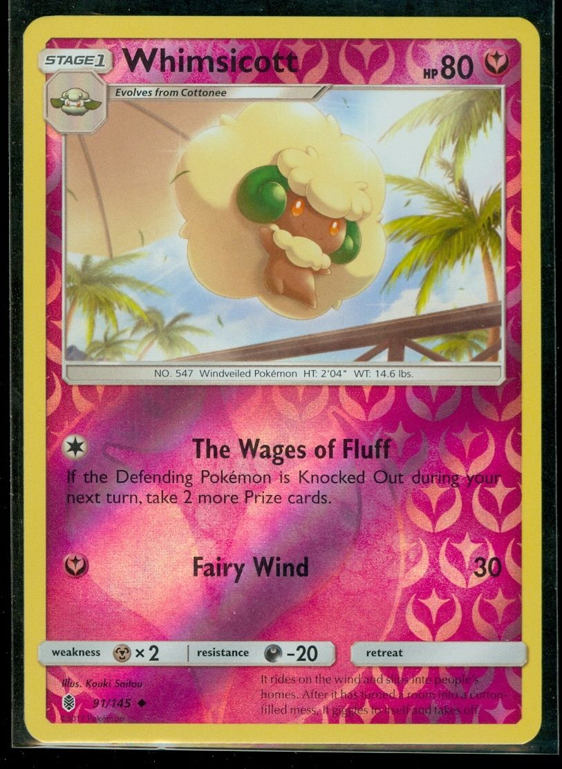 4x Pokemon Guardians Rising Whimsicott 91//145 Uncommon Card